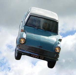 flying Ford Anglia