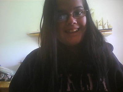 This was taken yesterday :3 Ehe, I'm smiling for once in my life. :3