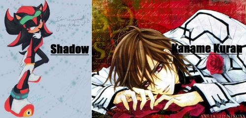 Kaname kuran to be honest my VERY first crush in history was shadow the hedgehog