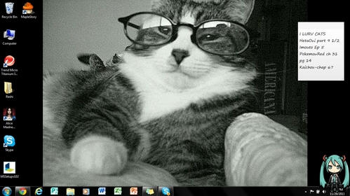 A cat being intellectually pretentious. C: