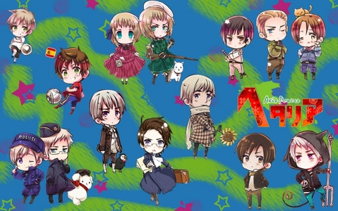 It's a bunch of Hetalia chibis. [i]What is there to explain?[/i] I'll probably change it to AmeBel soon, though //shot for 'shipping a weird Hetalia hetero couple