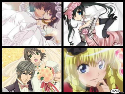 1st= Lelouch dress a wedding dress