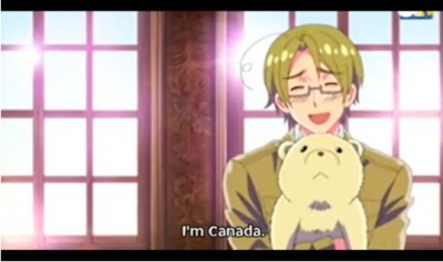 Canada! te won't notice him sneak up behind te and stab te to death... X3