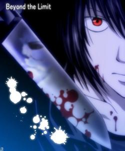Beyond Birthday, he was born with the eyes of a shinigami so i guess that kinda makes him half non-human..