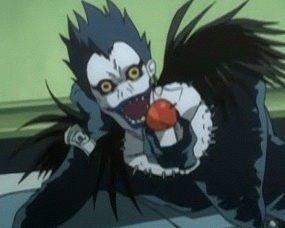 더 많이 apples to the shinigamis! VOTE RYUK! (Ryuk, Death note)