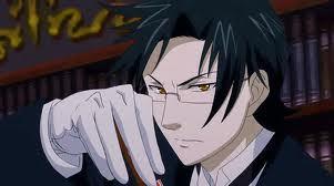 Definitely Claude from Kuroshitsuji. He is a demon butler like Sebastian.