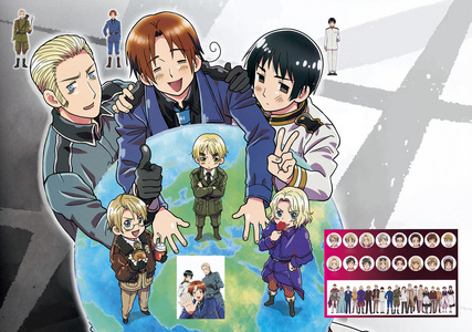 [b][i]The best thing EVER.[/b][/i] No, it's not porn~ Here: http://en.wikipedia.org/wiki/Hetalia:_Axis_Powers That should answer most of your questions. Basically, Hetalia is a ipakita where all the countries are in very stereotypical human forms. It's a comedy; highly addicting. [i]And now I will post a walang tiyak na layunin Hetalia picture. 'Cuz I'm just that addicted.[/i]