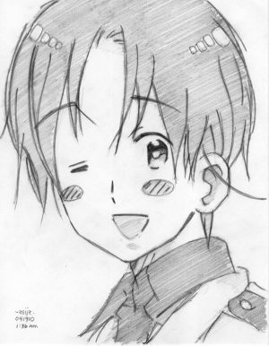 wewe da one kwa Rihanna for Italy from Hetalia (sorry my phone only lets me post pics not vids:)