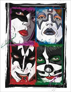 No, but then again...it's Kiss.I think all bands have their routines and idiosyncrasies...I just l'amour seeing behind the curtain though ^__^ x0x0x @I just loved this fan art, MDR ^_^@