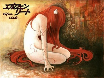 Elfen Lied for sure! Diclonius way better then stupid zombies. no offence to anyone who is obsessed with zombie related stuff. (if this picture is too explicit...which i don't think it is, please tell me and i well take it off)