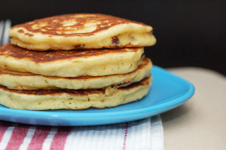 It would be eggs,sasuages,and pancakes.The panqueques, tortitas are the best!!Their sweet!!They don't need syrup because of their sweetness!!