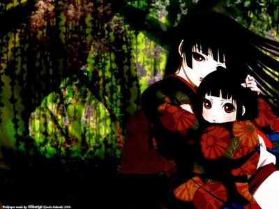 Anime: Jigoku Shoujo/ Hell Girl (pic and my icon) Le Portrait de Petit Cossette Death Note Afro samurai (? LOL) 흑집사 High School of the Dead Elfen Lied Darker than Black (kinda gothic) Black Blood Brothers Witch Blade Wallflower Trinity Blood Hellsing Murderer Princess Code Geass (?) Manga: Canterella God Child Black Bird Midnight Secretary China Blue 재스민 속, 재 스민