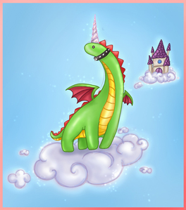 I am a ninja dinocorn (this is me without my ninja suit on) !! :)