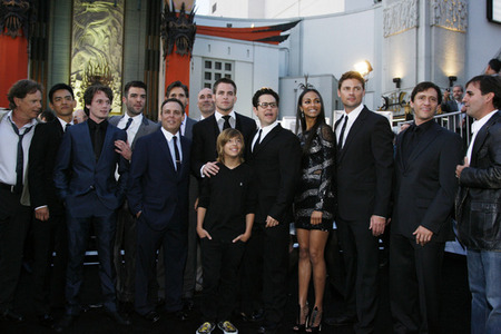 The cast of the 2009 estrela Trek movie. Hello, you have Zachary Quinto, Leonard Nimoy, Chris Pine, Simon Pegg, Karl Urban, John Cho, Zoe Saldana, Anton Yelchin, Bruce Greenwood, Eric Bana, Jacob Kogan, Winona Ryder, Ben Cross, Chris Hemsworth, and Tyler Perry (amongst others) all in one movie. Major good and awesome times right there. Guaranteed a good laugh and good conversation.