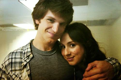 Keegan Allen and Troian Bellisario. x)