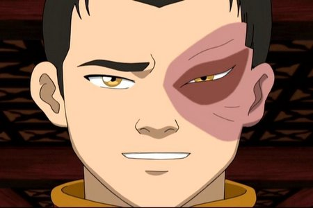 Zuko has golden yellow eyes. <3
