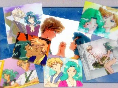 Haruka Tenoh (Sailor Uranus) and Michiru Kaioh (Sailor Neptune). And yes. In the original Manga and Japanese they're lesbian lovers. Not cousins.