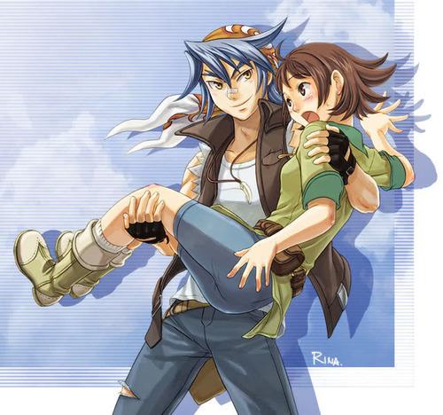 Akari, who is being carried kwa Luke :)