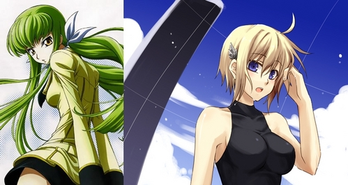 So hard to choice. Either CC from Code Geass au Nina from Chrome Shelled Regios.
