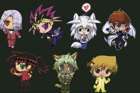<b>Hmm..how about this one?..it's a picture of Chibi's of some of the Yu-Gi-Oh! character!?</b>