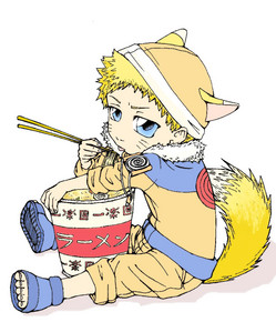 anda can never seprate Naruto and his ramen!