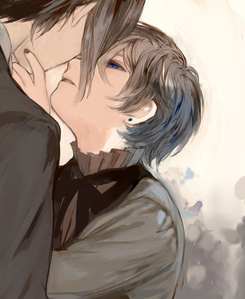 i think the art is really beautiful in this pic.... (its sebastian and ciel)