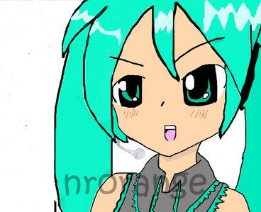 Hatsune Miku :D (I drew this)