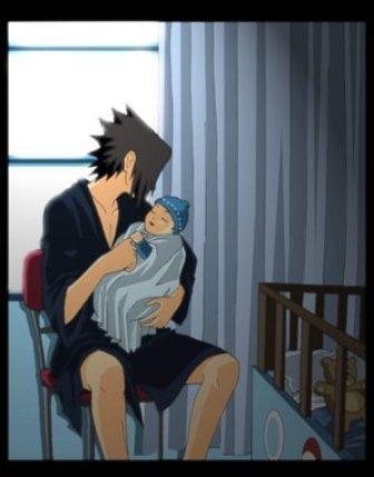 Sasuke Suits the father role xDD <3