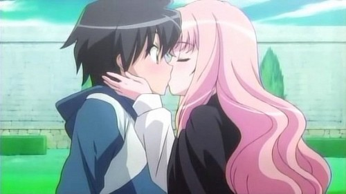 "this one's very romantic...Saito and Louise of ""The Familiar Of Zero"""