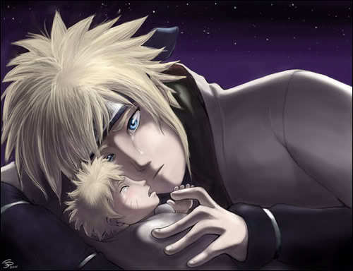 Minato and Naruto :'(