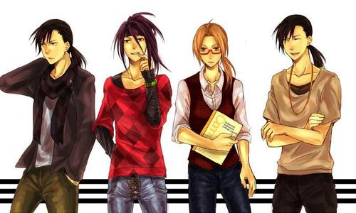 Greed, Envy, Edward, and Ling from fma brotherhood