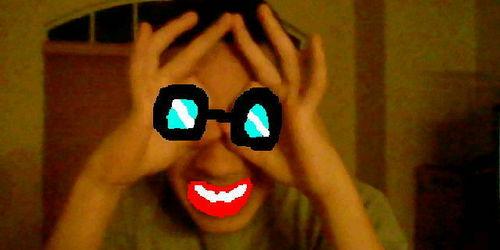 I edited my cousin's face XD
