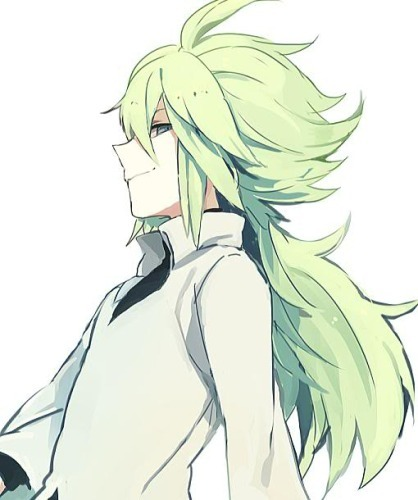 """Cause N is the most bad 屁股 trainer I've ever seen on Pokémon! His eye and hair is my 最喜爱的 color and he's attractive XD I also like this """"icon"""" cause it looks like I'm saying stuff with my back turned XDDDD"""