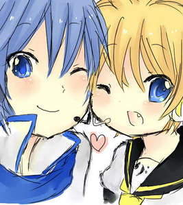 Kaito and Len. The cutest thing I have on my laptop. <3