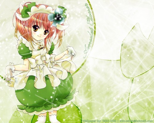 amu-chan from shugo chara.. she is too cute in her green dress....