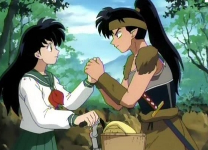 <b>Hmm..well here's a picture of Kouga-kun and Kagome-chan!^^</b>