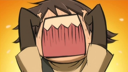 """misaki is representing the """"I CANT CHOOSE!"""" face im making right now"""
