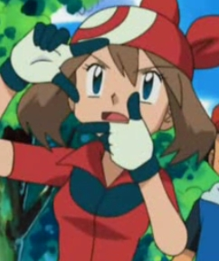 <b>How about Haruka-chan from Pokemon,she has Brown hair!^^</b>