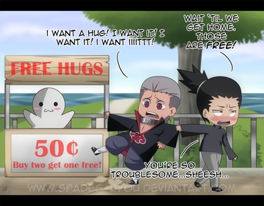 Hidan and Shikamaru :3 Sadly no one notices this shnazzy Yaoi couple :(