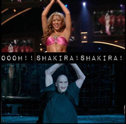 who's better at this dance Lord Voldemort o shakira ?? ammmm !!!!