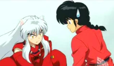 in the english dub & sub (so both dub and sub) ranma and Inuyasha have the same voice sejak richard ian cox (dub) and Kappei Yamaguci (sub). then in SUB 1 and Inuyasha have the same actor too.