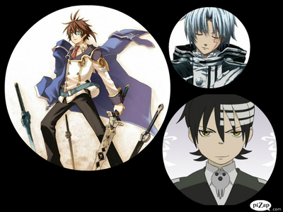 Allen (D-Gray Man), Kidd (Soul Eater), and Leifon (Chrome Shelled Regios) all share the same voice actor. (English Dub at least)