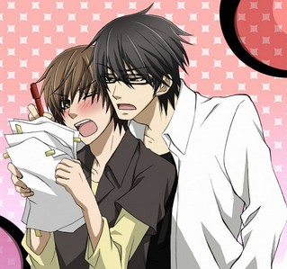 Fine..If anda don't Like Junjou ROmantica...Then I'm just going to use Sekai ichi Hatsukoi...*Devil's smile* Ritsu blushing is cute! Here are some of the sekai ichi hatsukoi that is blushing The ukes are blushing in this Link http://www.zerochan.net/643833 And Kisa is blushing because Yukina kissed Him in this Page http://www.zerochan.net/871383 And If anda Look Closely The Ukes are blushing in this Link http://www.zerochan.net/840751 And this one http://www.zerochan.net/637207 And Many lebih If anda want to see them all Just Go to Zerochan.net then cari Sekai Ichi Hatsukoi So..see it all ^_^