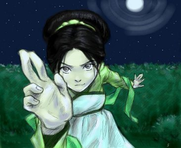 Anime: Soul,Shura Kirigakure and Death the Kid Cartoon: Toph Bei Fong Comics: Spider-man and Rogue Movies: Ultraviolet Video Games: Juri Han All-time fav? I'll come back to you on that. Any ATLA fã should know who this is.