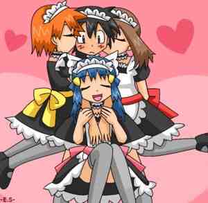 Ash, dawn, misty and may from pokemon