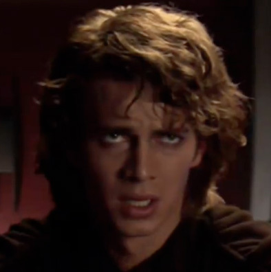 """""""I will do whatever te ask."""" Anakin says this to Padme in episode 2 and to Palpatine in episode 3. Irresistible!"""