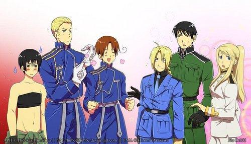 Fullmetal Alchemist:Brotherhood~<3 ..And also Hetalia.-w-