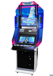 I'm not sure of that, but I DO know they have Project DIVA Arcade mode installed in Singapore. Go to an arcade near anda atau any other arcade in your hometown and see if they have it anywhere where anda live.