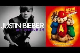 justin bieber...... and my step fathers are the chipmunks!