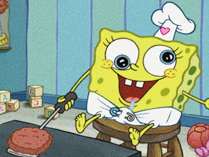 I really like this Spongebob picture,he was so adorable when he was a baby!